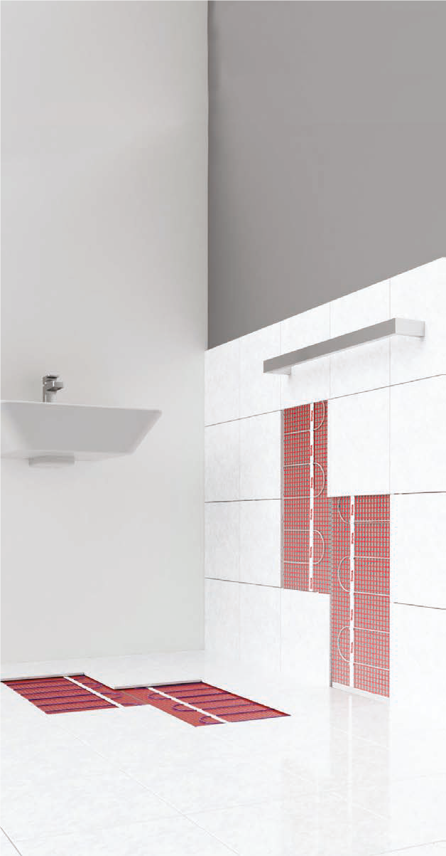 Wall and Floor Heating for bathrooms, wet rooms and shower rooms